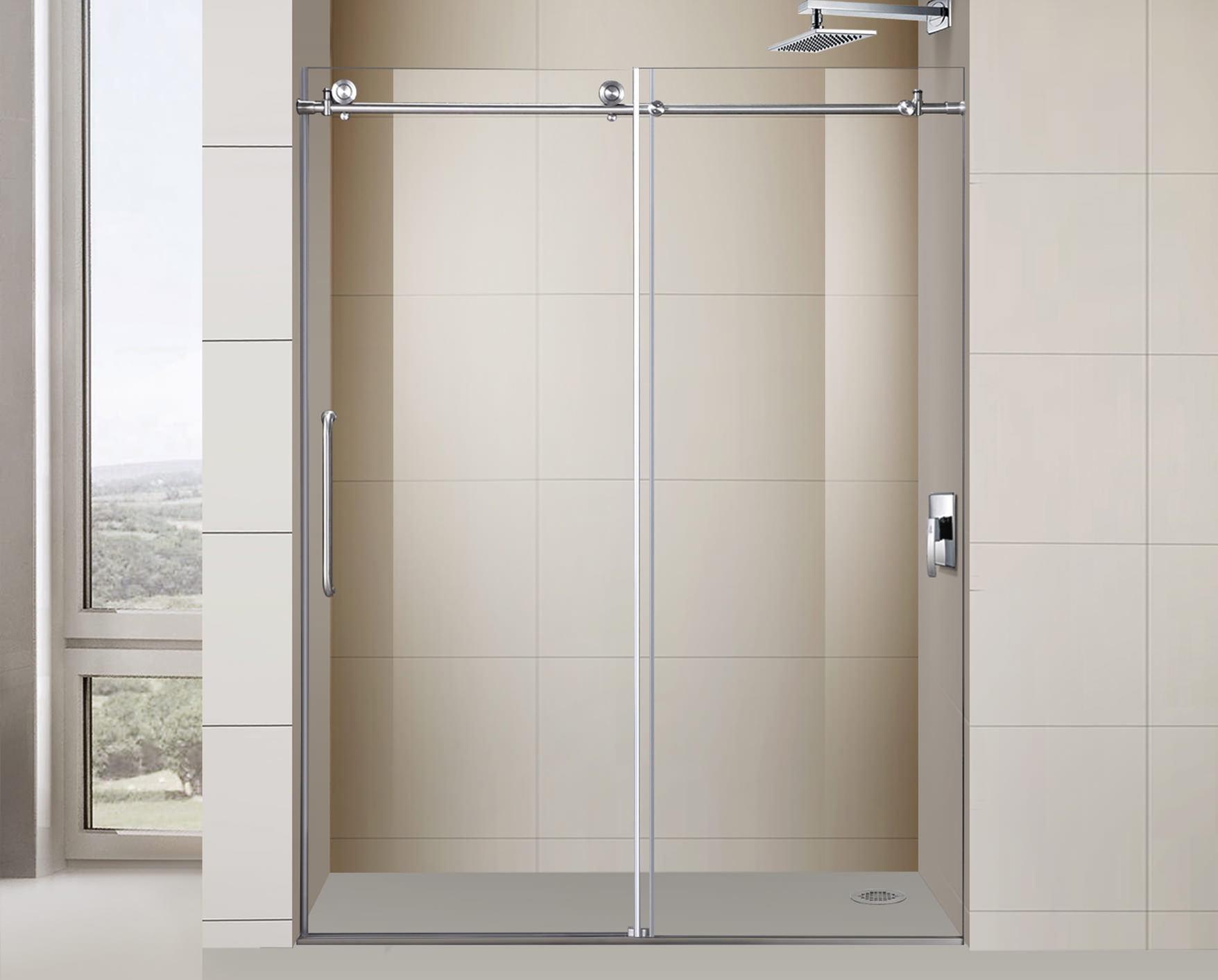 Excellent Roman Style Shower Contemporary Bathroom With